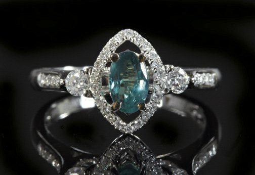 822: Gold, Alexandrite and Diamond Lady's Ring