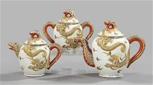 1017 Japanese Taisho Porcelain Tea Service