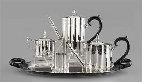 1308: Five-Piece American Silverplate Tea Service