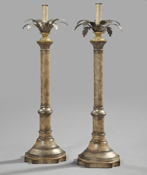 17: Pair of Alexander-Jean Composition Table Lamps