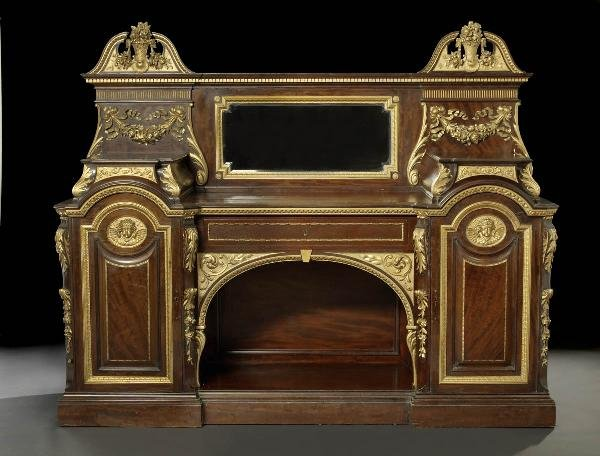 21: Victorian Carved Mahogany and Giltwood Sideboard