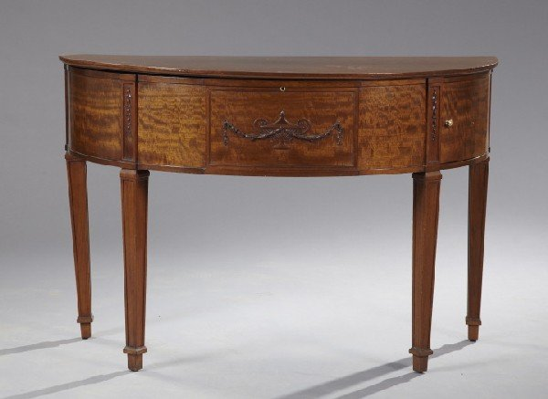 23: George III-Style Mahogany Console,