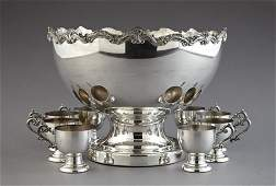 67 Sheffield Silver Company Silverplate Punch Service