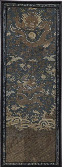 161: Antique Chinese Gold-Embroidered Robe Panel