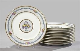 384: Charles Ahrenfeldt, Limoges, Porcelain Plates
