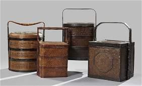 614 Japanese Meiji Basket Woven Picnic Boxes