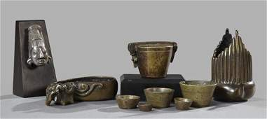616 Collection of Bronze and Silver Objects