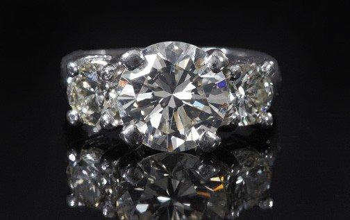 732: Platinum and Diamond Lady's Engagement Ring