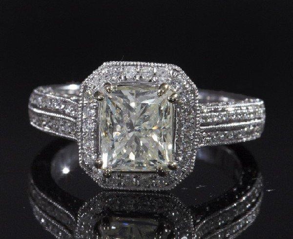 734: Gold and Diamond Wedding Ring
