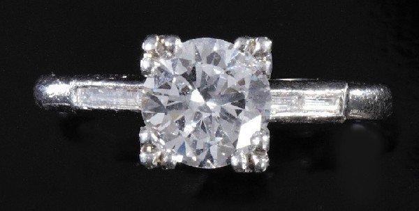 735: Lady's Platinum and Diamond Engagement Ring,