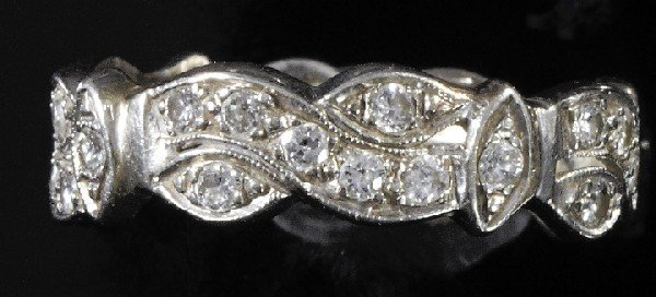 737: White Gold and Diamond Eternity Band