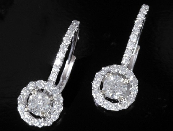 741: White Gold and Diamond Earrings