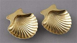1213 Pair of Tiffany and Company Vermeil Nut Dishes