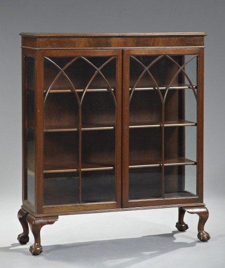 4: George III-Style Mahogany Bookcase,