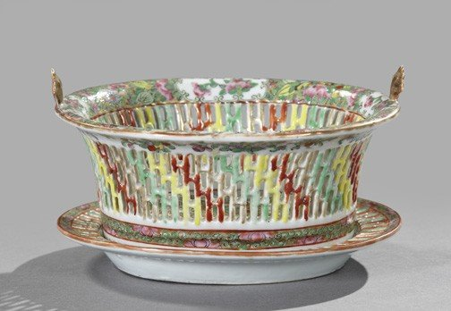 5: Chinese Export Porcelain Bowl and Underplate