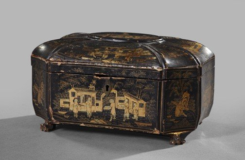 16: Chinese Export Black-Lacquered Desk Box