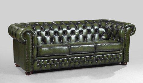 Astounding 29 Edwardian Style Green Leather Chesterfield Sofa Machost Co Dining Chair Design Ideas Machostcouk
