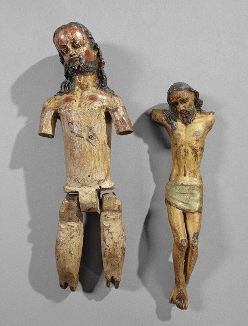 728: Spanish Colonial Wooden Figures of Christ