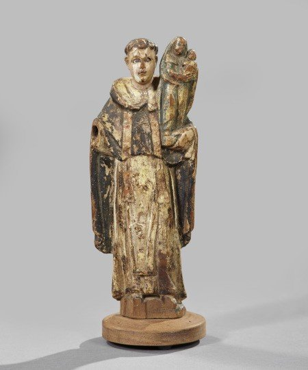 729: Spanish Colonial Carved and Polychromed Figure