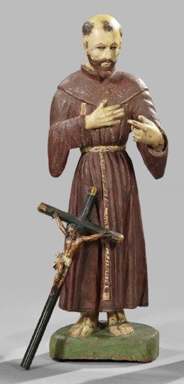 730: Spanish Colonial Wooden Figures
