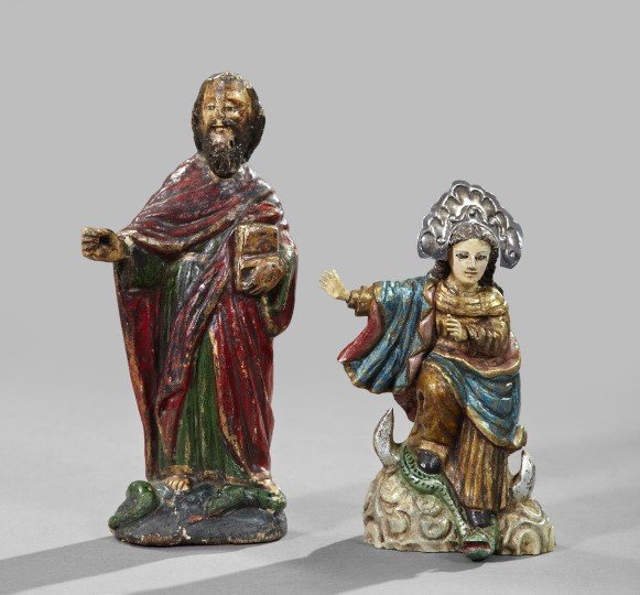 731: Spanish Colonial Wooden Figures