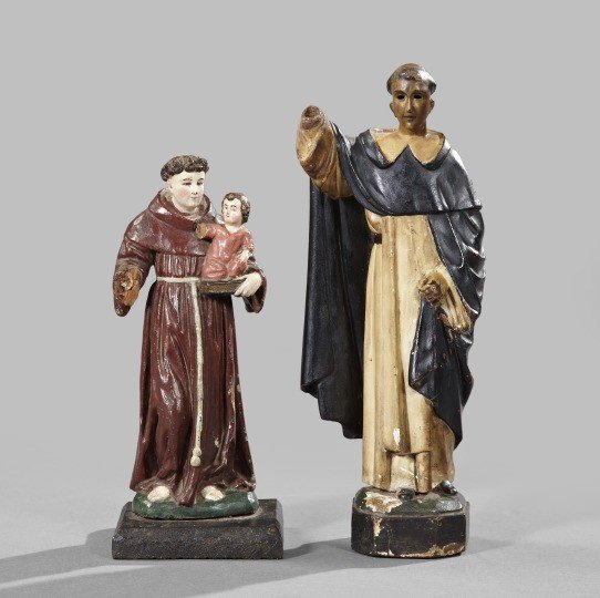 732: Spanish Colonial Wooden Figures