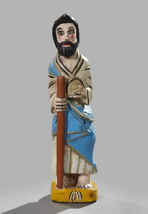 734: Spanish Colonial Wooden Figure