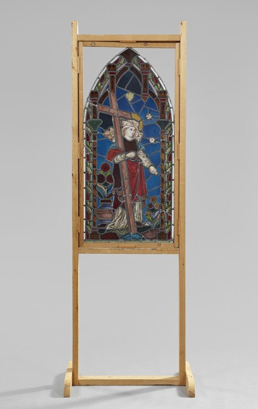 736: Anglo-German Stained Glass Window
