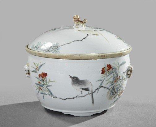 1280: Hsien Feng Porcelain Food Warming Bowl