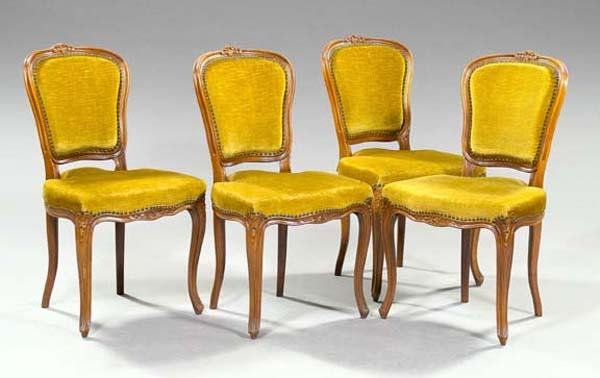 3: FOUR CARVED FRENCH  CHAIRS