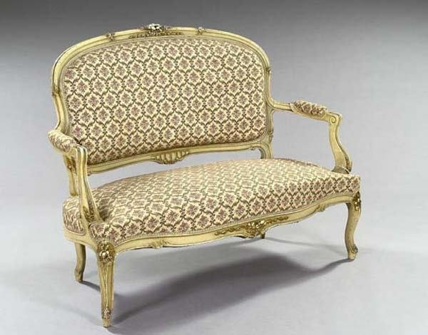 12: FRENCH SETTEE