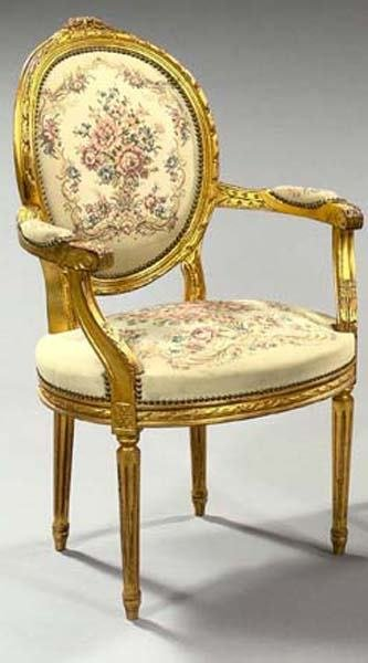 15: FRENCH GILTWOOD CHAIR
