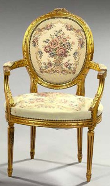 16: FRENCH GILTWOOD CHAIR