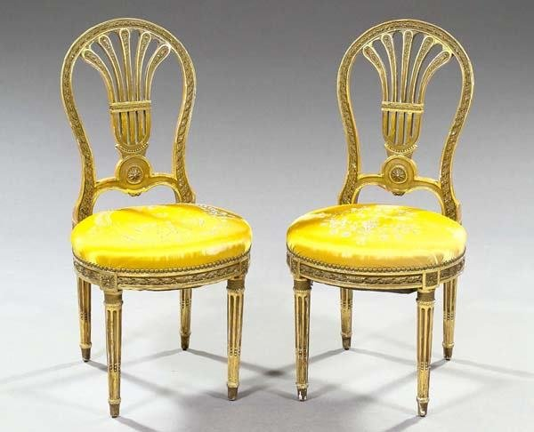 17: FRENCH GILTWOOD CHAIRS