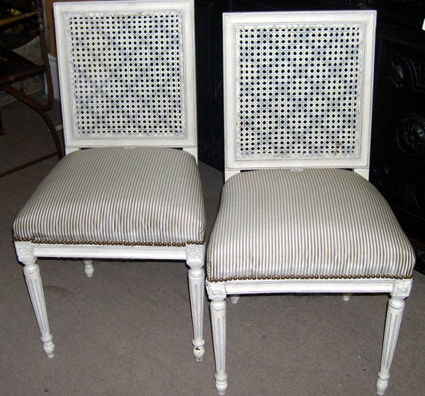 21: FRENCH SIDECHAIRS