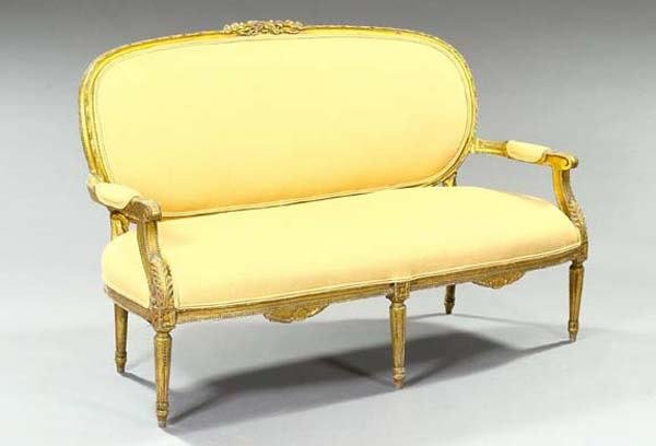 22: FRENCH GILDED SETTEE