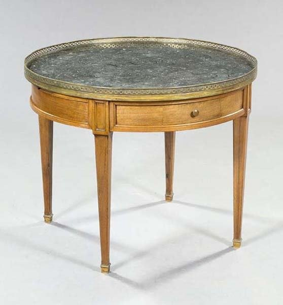 24: FRENCH MARBLE TOP TABLE