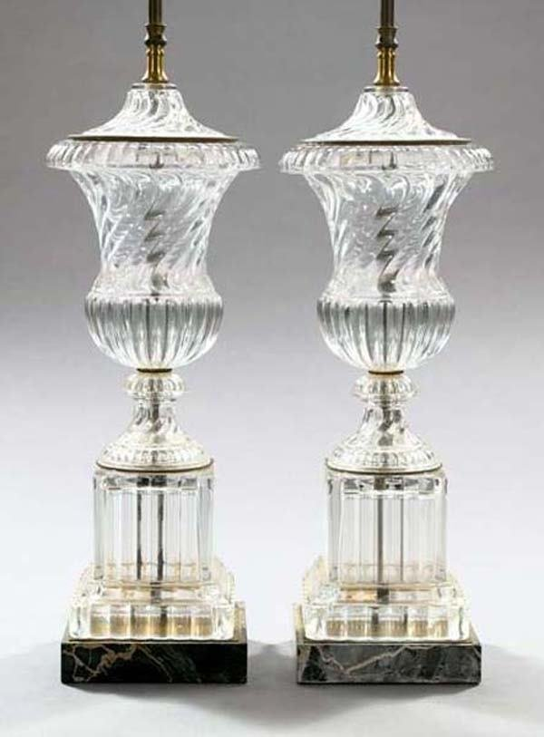 383: BACCARAT GLASS LAMPS