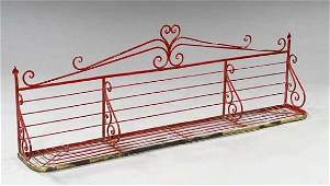 413 FRENCH IRON  BRASS BAKERS RACK