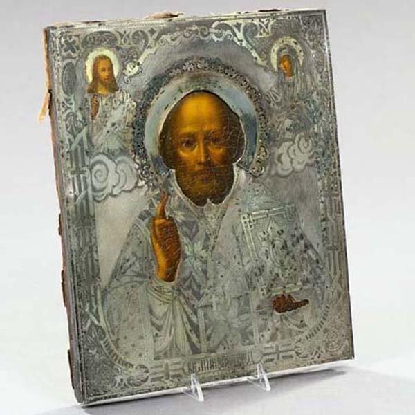 607: RUSSIAN IKON ST. NICHOLAS OF BENEDICTION