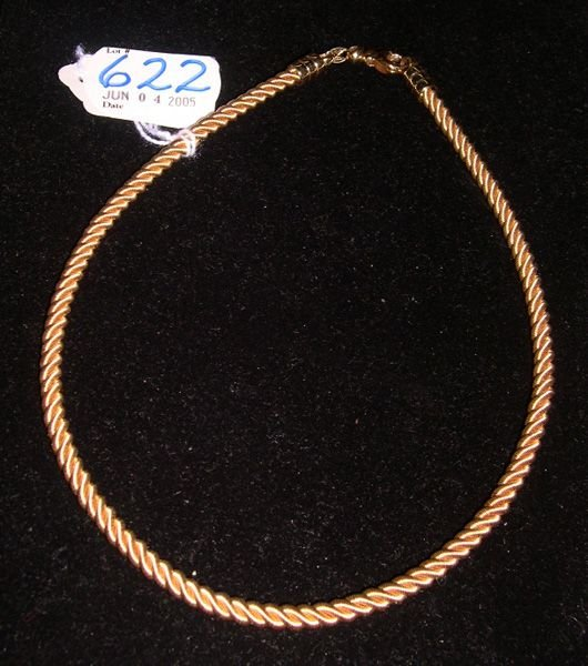 622: YELLOW GOLD NECKLACE