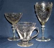 905: CUT GLASS STEMWARE