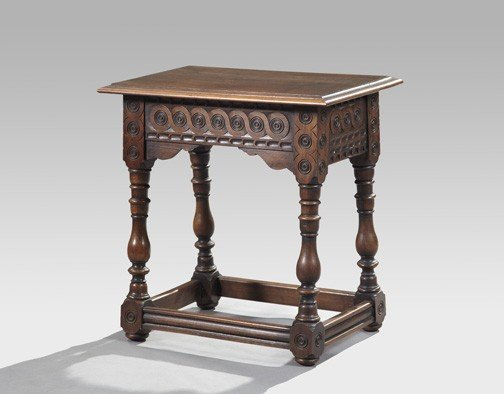 3: Jacobean-Style Walnut Occasional Table