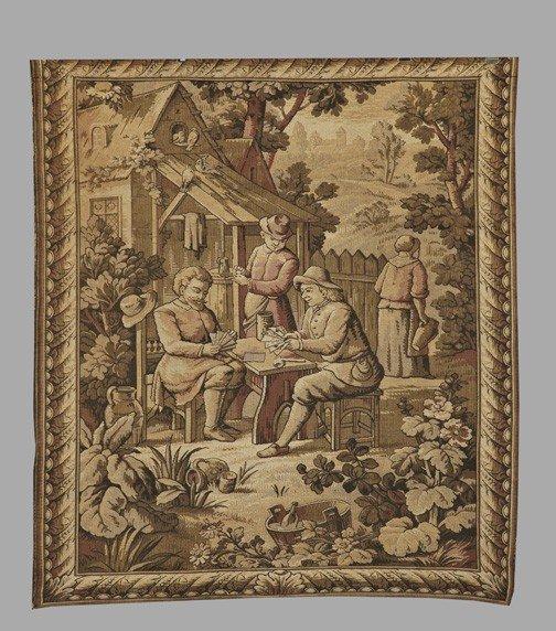 8: Franco-Belgian Machine-Woven Tapestry Panel,