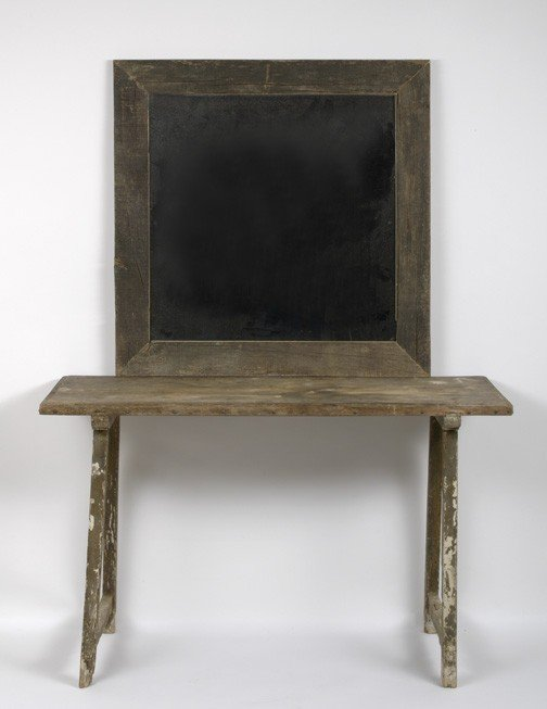 9: Rustic Pine Side Table and Conforming Mirror,