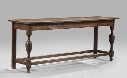 13: Jacobean-Style Oak Console Table,