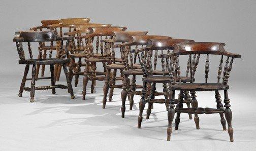 14: Harlequin English Elmwood Captain's Chairs