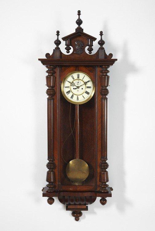 17: Large Gustav Becker Regulator Wall Clock,