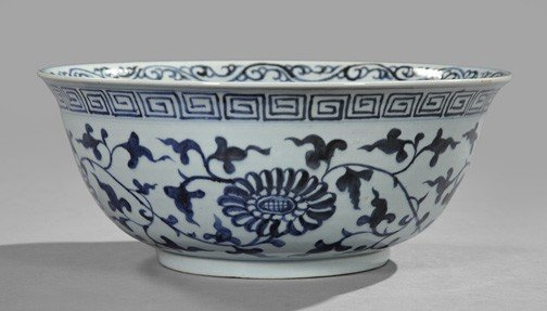 18: Chinese Blue and White Porcelain Bowl,