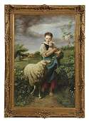 611 Young Shepherdess oil on canvas